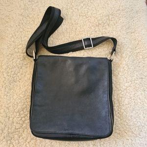 OROTON Unisex Black Messenger Crossbody Bag